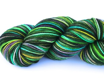 Fairy Wings--hand dyed sock yarn, 2ply merino and nylon, (400yds/100gm)