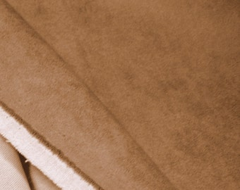 Beige Chestnut Microsuede Upholstery Fabric