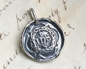 Crown of Thorns Wax Seal Medal / Pendant - Jesuit Symbol