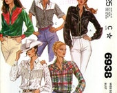 McCall's 6938 Misses Western Cowgirl Rodeo Shirt Blouse Fringe Yoke Size 16 Bust 38 Uncut Vintage Sewing Pattern 1980