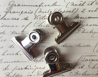 Vintage Industrial Bulldog Office Clip, Vintage Office, Industrial clip, Gifts for Him or Her, Gifts under 5, Boss Gift, Co worker gift
