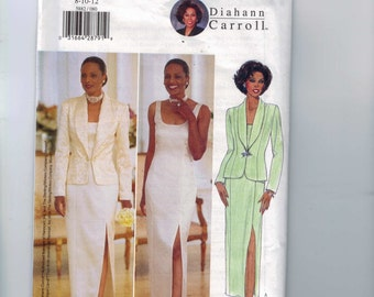 Misses Sewing Pattern Butterick 5882 Easy Misses Evening Dress Jacket Diahann Carroll Mother of the Bride  Size 8 10 12 UNCUT