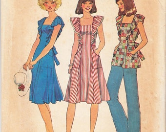 "Vintage Sewing Pattern 1970's Simplicity 7438 Ladies' Tunic and Dress 32"" Bust"