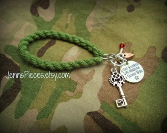 SALE BRACELET Every Soldiers or Sailors Life Deserves A Trophy Wife Boot Band Blouser Bracelet SSG170 Army National Guard Air Force navy usn