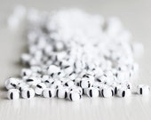 20g Opaque White With Black Stripes Czech Glass Size 8 Rocaille Seed Beads