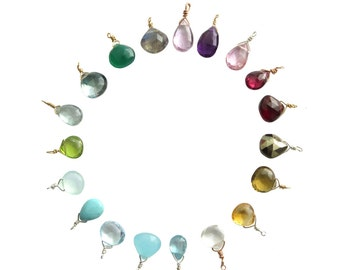 Tiny Gemstone • Charm Only • Gemstone drop • Add on Gem • Small Gemstone Accent • Single Stone Pendant • Just the Gem