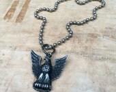 vintage sterling Eagle Scout medal necklace
