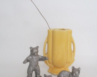 The Three Bears Vintage Pewter Figurines Nursery Decor Interiors Shelf Decor