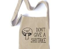 Hipster Tote Bag Don't give a Shiitake Mushroom tote kawaii crossbody tote cute asian bag hipster shopping tote japanese anime gift funny