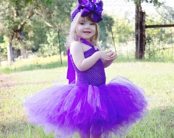 Purple Tutu Dress,Crochet Toddler Tutu Dress,Baby Tutu Dresses,Purple Tutu for Babies,Purple Infant Baby Tutu,Tulle Dress for Girls Purple