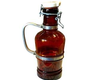 1920s Beer Bottle | Glass & Porcelain Lid | Made in Germany