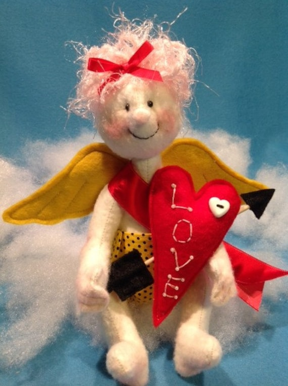 Mailed Cloth Doll Sewing Pattern Cute little Valentine Cupid