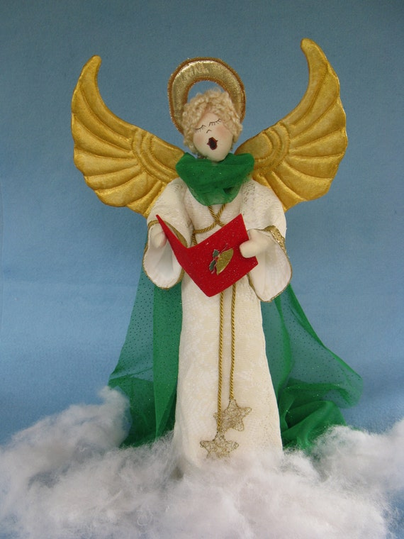 Mailed Cloth Doll Patterns 19inch Christmas Caroling Angel