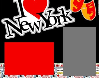 New York City 2-page 12X12 Premade Scrapbooking Layout or Page Kit