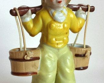 Vintage Dutch Boy Figurine Water Carrier