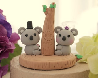 Koala  wedding cake topper---k720