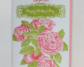 Love You Mom! Happy Mother's Day - Letterpress Greeting Card