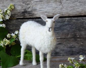 Felt Sheep Sculpture - Needle Felted Sheep - Needle Felted Animal - Soft Sculpture - Felt Animal - BFL Wool - sheep Decor - farmhouse Décor