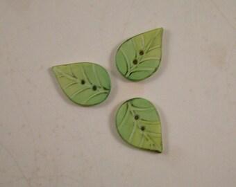 Leaf Button set of 3