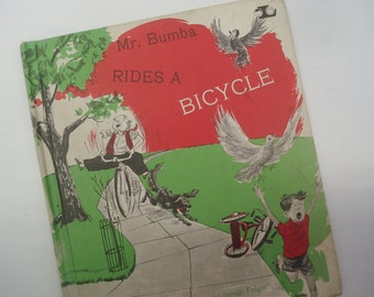 Mr Bumba Rides a Bicycle - hardback book - 1966