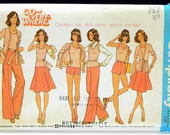 Simplicity 6973 Mix Match Wardrobe Pattern Size 12 Go Everywhere UNCUT 1975 (15436)