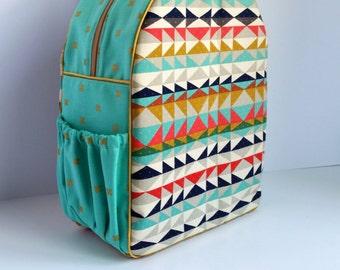 Childrens Backpack, Kids Backpack, Toddler Backpack, Aztec Geometric