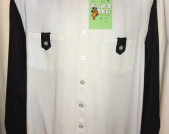 Classic 1950's Reproduction Two Tone Rockabilly Gabardine Shirt M/44 (ALL Sizes Available)