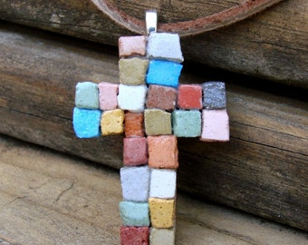 The Patchwork Cross Mosaic Necklace - A Dirt Road South Exclusive