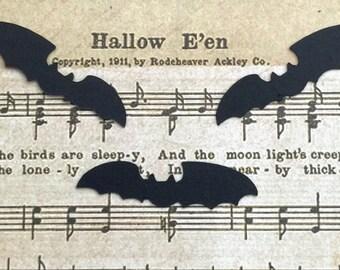 Bat Confetti Die Cut Set of 50 Black Halloween Trick or Treat Bag Card Party Decor Scrapbooking Embellishment Tag Invitation Stuffer