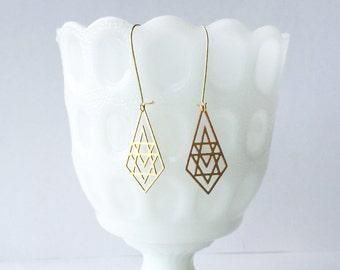 Geometric Briolette Earrings | ATL-E-118