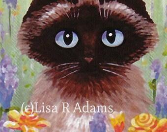 Siamese Ragdoll Cat Note Cards Set from Original Painting Creationarts Lisa Adams