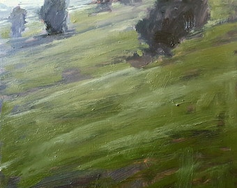 Early Evening On The Slope   Oil Painting Oil Painting Landscape Painting   12 x 12