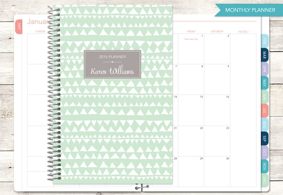 MONTHLY PLANNER notebook | 2016 2017 choose your start month | 12 ...