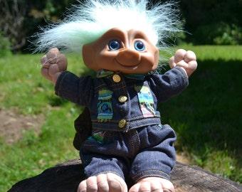 "12"" Plush Green-Haired Treasure Troll Doll"