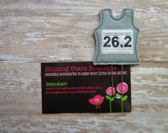 Planner Accessories - Grey/Gray Full Marathon 26.2 Miles Racing Shirt Paper Clip Or Bookmark - Track And Field, Running, Sports Accessory