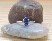 Kyanite Royal Blue Oval Ring Sterling Silver Ready to ship size 6