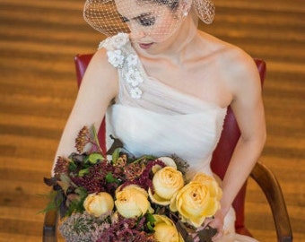 Custom Veil and Rose Fascinator