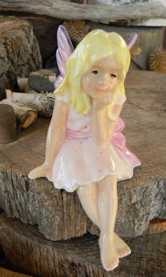 Fairy Miniature Girl Handmade Ceramic Garden Fairie Fae