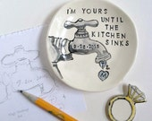 Custom quote engagement wedding gift ring holder handmade from your photo by Cathie Carlson