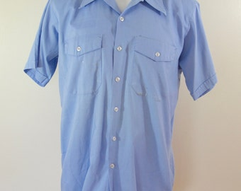 Vintage UNITOG short sleeve work shirt UNION made USA size 16-16 1/2 large
