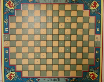 1930s Camelot Board Game and Instructions Vintage Game Board Camelot Great Graphics Wall Decor Parker Brothers