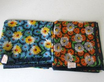 Vintage Scarf Scarves Pair Glentex Square Scarves 1960s Chintz Design Floral Scarf Made in Japan