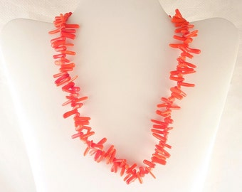 Vintage Red Spiny Coral Necklace