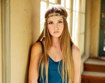 Rock and Roll! One-of-a-Kind Tassel Beaded Headband by The House of Kat Swank