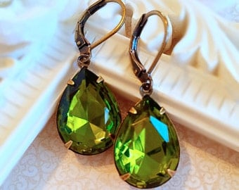 Best Gifts for Wife  - Olive Earrings - Victorian Earrings - Victorian Jewelry - CAMBRIDGE Olive