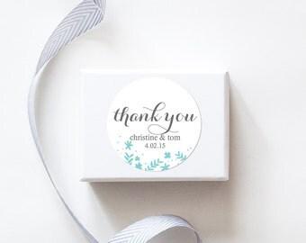Spring Flowers Wedding Favor Stickers  - Custom Labels // Floral Wedding