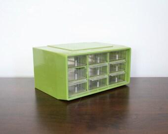 Vintage Green Plastic Set of Drawers