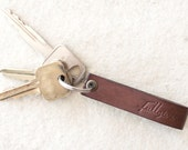 Brown Leather Key Fob // FREE Personalization