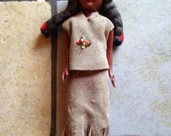 Small Buckskin Clad Native American Indian Doll
