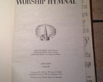 1966 The Cokesbury Worship Hymnal